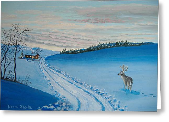 Winter Sentinel Greeting Card by Norm Starks