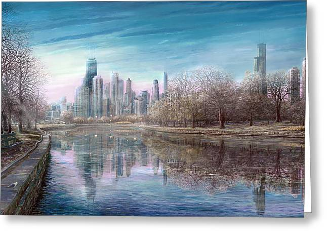 Winter Serenity Frost Greeting Card by Doug Kreuger
