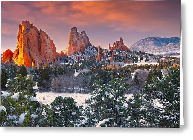 Winter Serenity Greeting Card by Tim Reaves