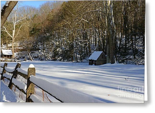 Winter Shack Greeting Card