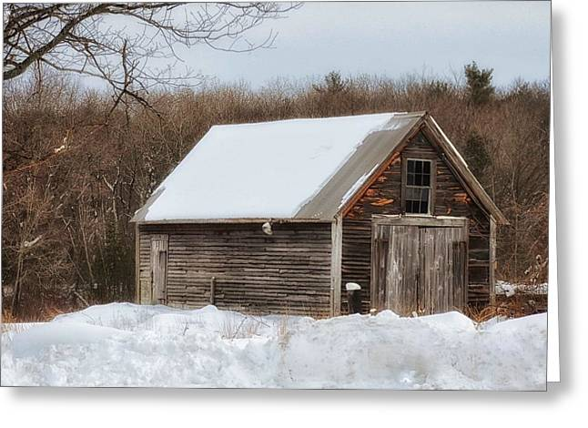Winter Shack Greeting Card
