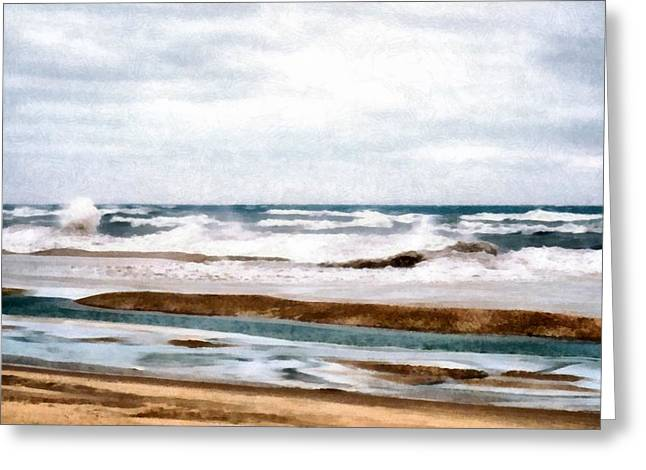 Winter Shore Greeting Card by Michelle Calkins