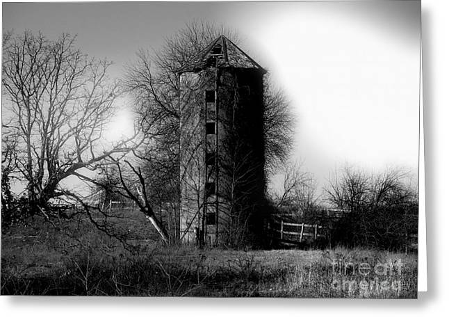 Winter Silo Greeting Card by Ryan Burton