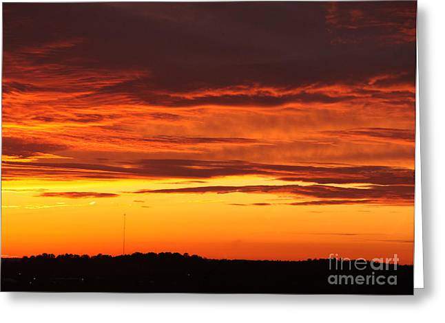 Winter Sky Greeting Card by Paul Anderson