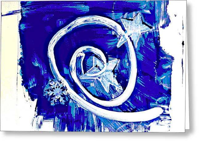 Winter Sky Swirling Greeting Card by Claudia Smaletz