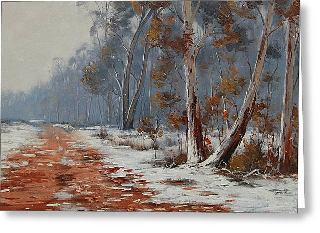 Winter Snow Gums  Greeting Card by Graham Gercken