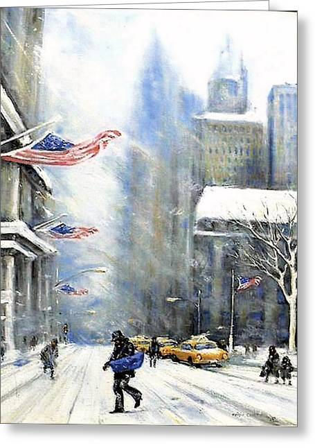 Winter Snow Nyc Greeting Card