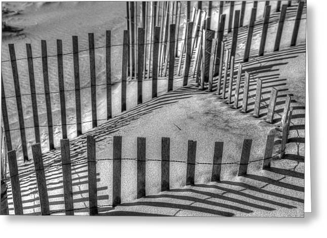 Winter Snowfence 2 Greeting Card