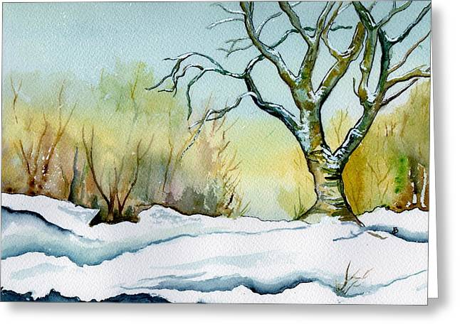 Winter Solitude Greeting Card by Brenda Owen