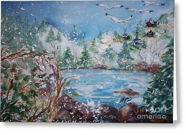 Winter Solstice Greeting Card by Ellen Levinson