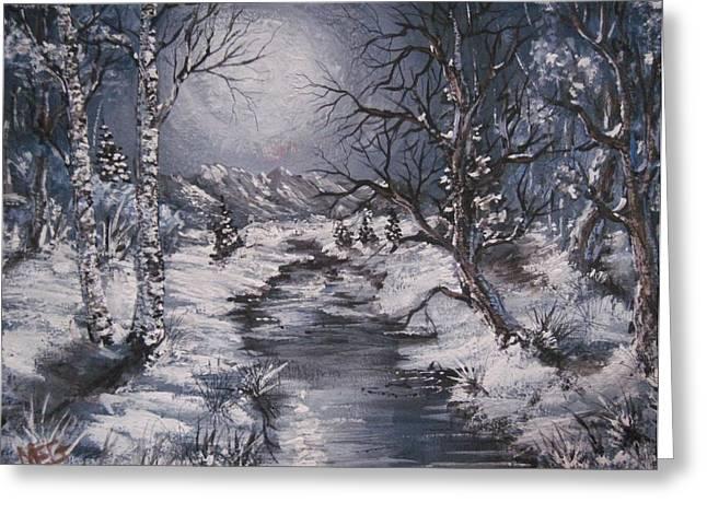 Winter Solstice Greeting Card by Megan Walsh