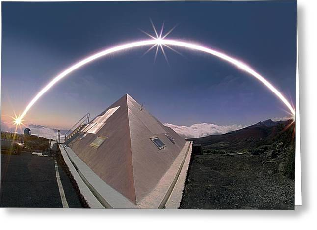 Winter Solstice Solar Trail Greeting Card