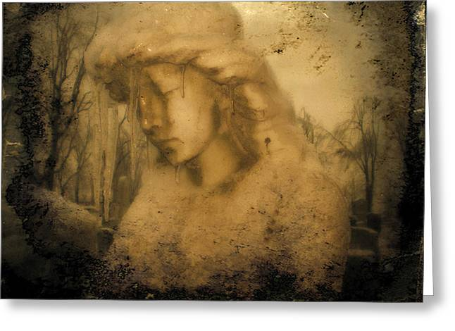 Winter Soulful Angel Greeting Card by Gothicrow Images