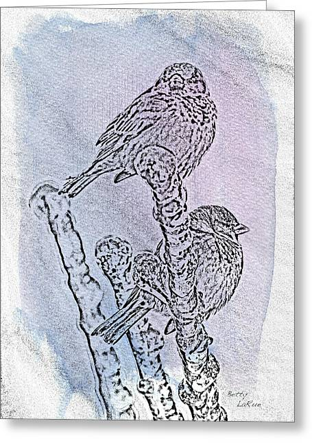 Winter Sparrows 1 Greeting Card
