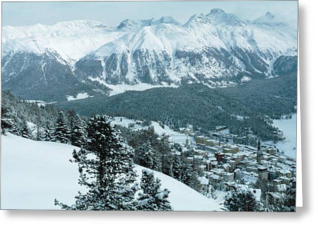 Winter, St Moritz, Switzerland Greeting Card