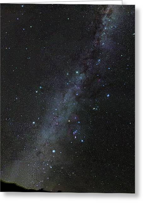 Winter Stars Without Light Pollution Greeting Card by Eckhard Slawik