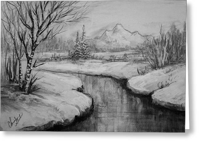 Winter Stillness Greeting Card by C Steele