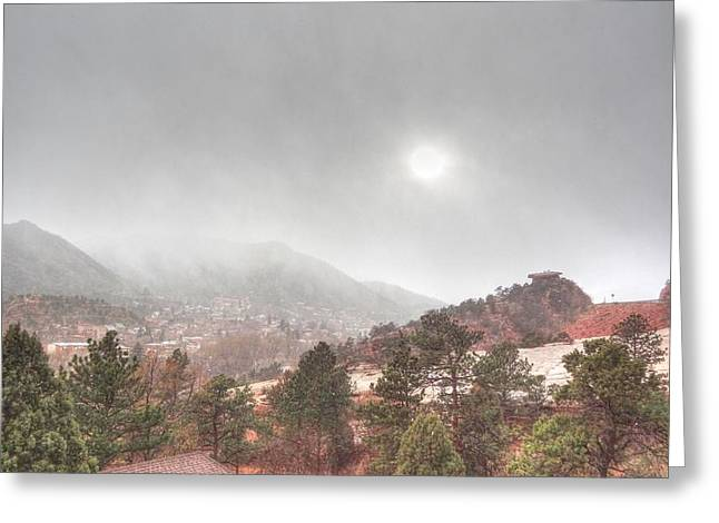 Greeting Card featuring the photograph Winter Storm In Summer With Sun by Lanita Williams