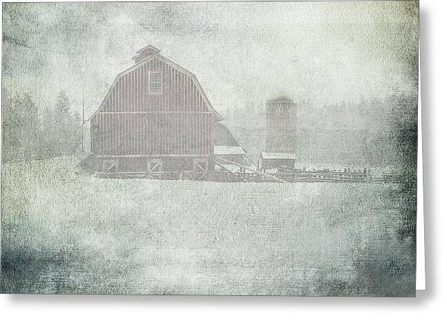 Winter Storm On Palouse Greeting Card by Sharon Elliott