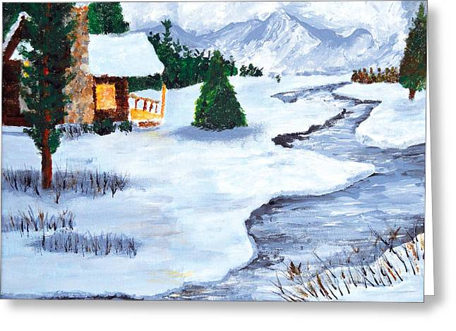 Winter Stream 2014 Greeting Card by Anja Eriksen
