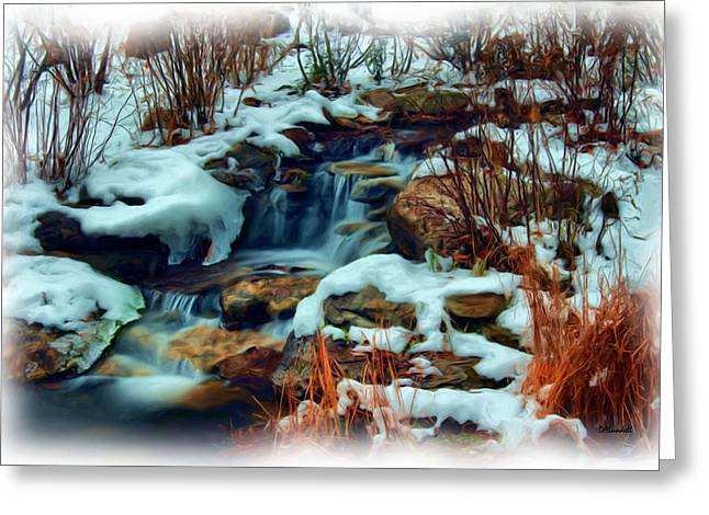 Winter Stream Greeting Card by Dennis Lundell