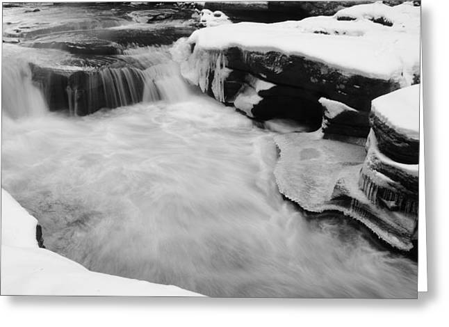 Winter Stream Greeting Card by Gary Wightman