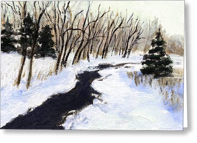 Winter Stream Greeting Card by J Reifsnyder