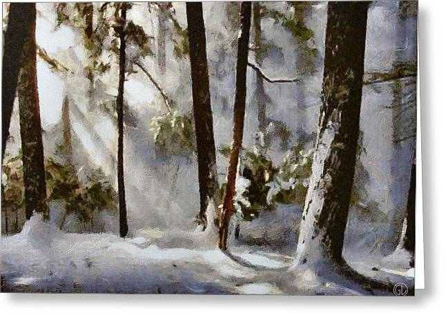 Winter Sun Greeting Card