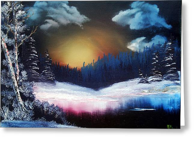 Winter Sun Rise Greeting Card by Ryan Wells
