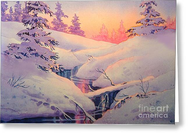 Winter Sun Greeting Card by Teresa Ascone