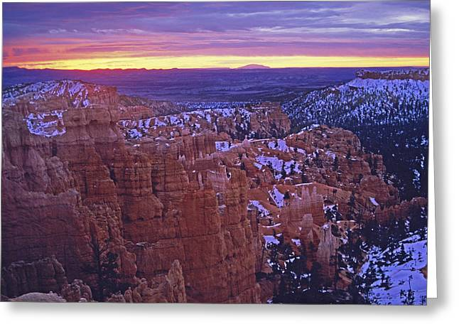 Greeting Card featuring the photograph Winter Sunrise At Bryce Canyon by Susan Rovira