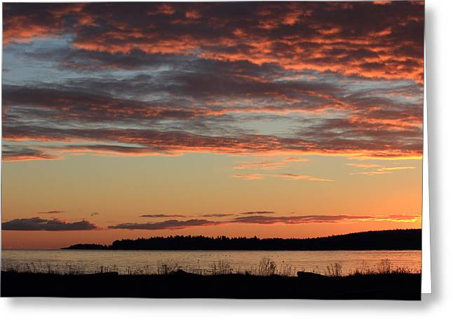 Winter Sunrise At Rathtrevor Greeting Card by Randy Hall