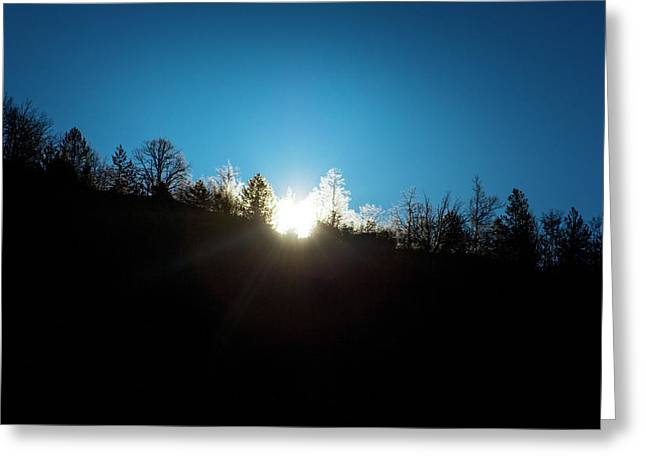 Winter Sunrise In The Mountains Greeting Card