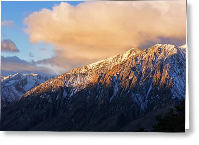 Winter Sunrise On Mount Tom Greeting Card