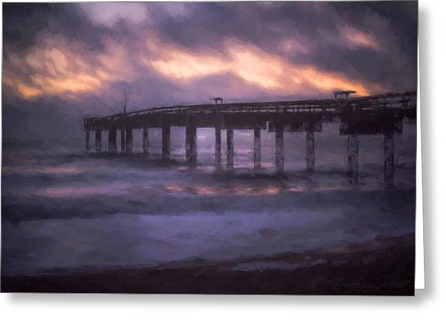 Winter Sunrise St. Augustine Beach Greeting Card