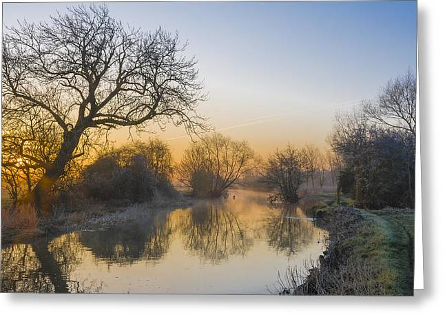 Greeting Card featuring the photograph Winter Sunrise by Trevor Chriss