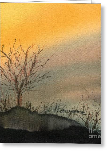 Winter Sunset Greeting Card by Addie Hocynec