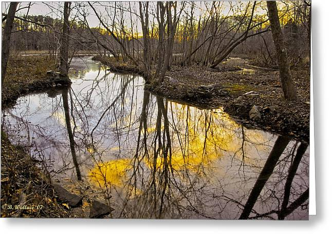 Greeting Card featuring the photograph Winter Sunset At Williston Mill by Brian Wallace