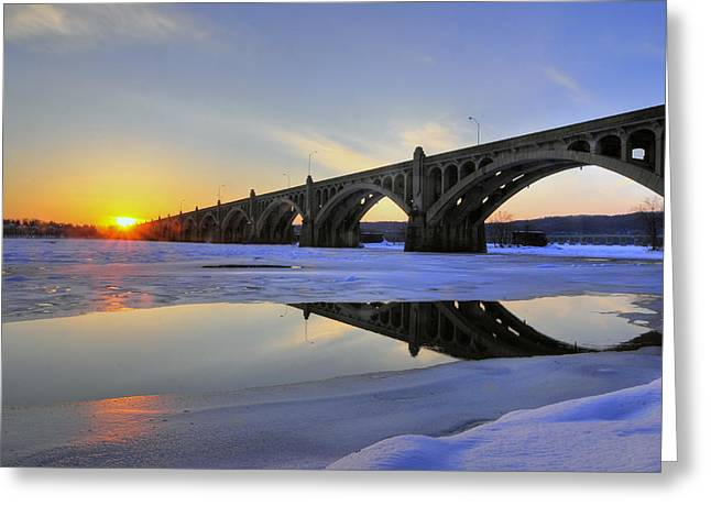 Winter Sunset Greeting Card by Dan Myers