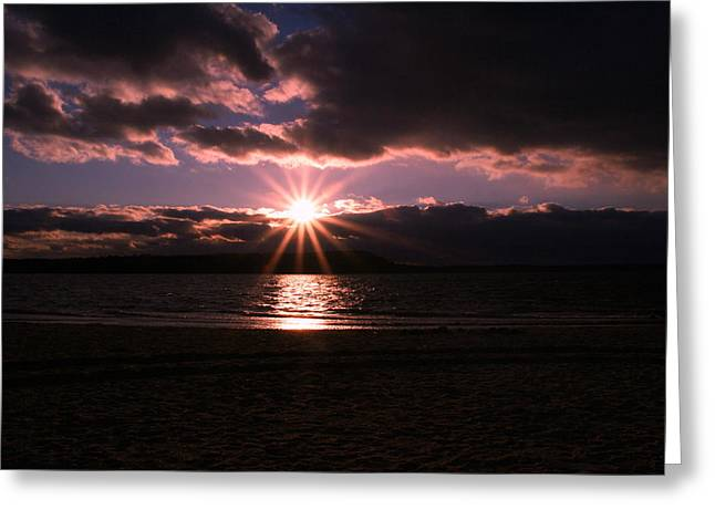 Greeting Card featuring the photograph Winter Sunset by Karen Silvestri