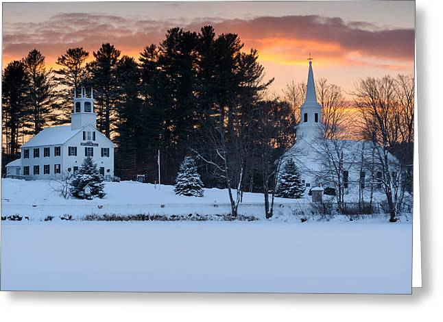 Winter Sunset Greeting Card