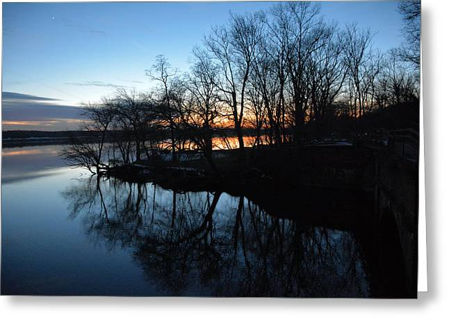 Winter Sunset On Potomac River Greeting Card by Bill Helman