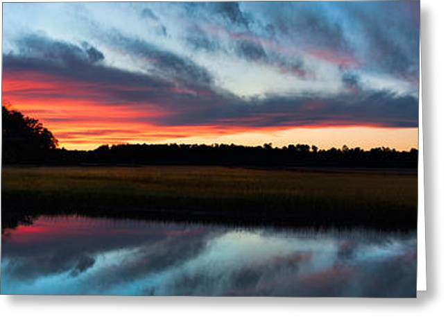 Winter Sunset Over Moultrie Creek Greeting Card