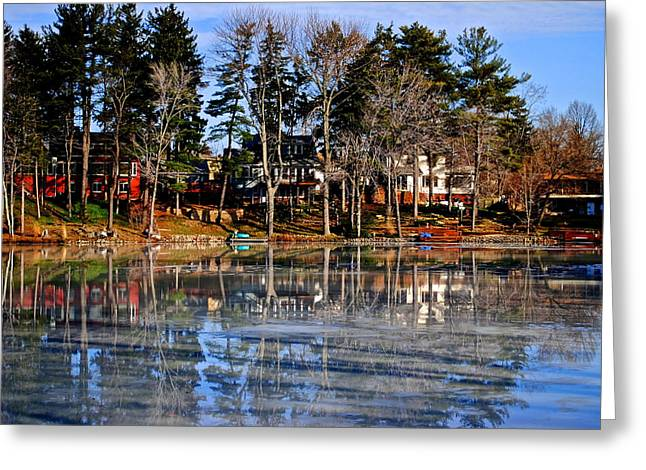 Winter Sunshine Greeting Card by Frozen in Time Fine Art Photography