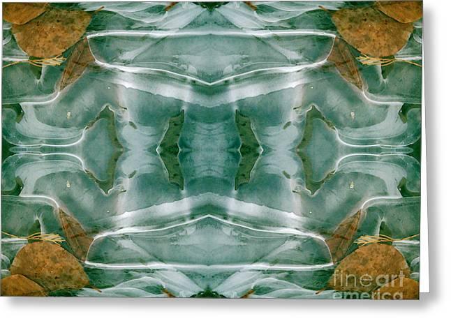 Winter Symmetry Greeting Card