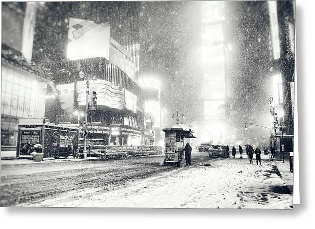 Winter - Times Square - New York City Greeting Card by Vivienne Gucwa