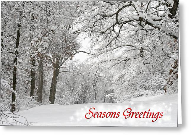 Winter Trail Seasonal Card Greeting Card