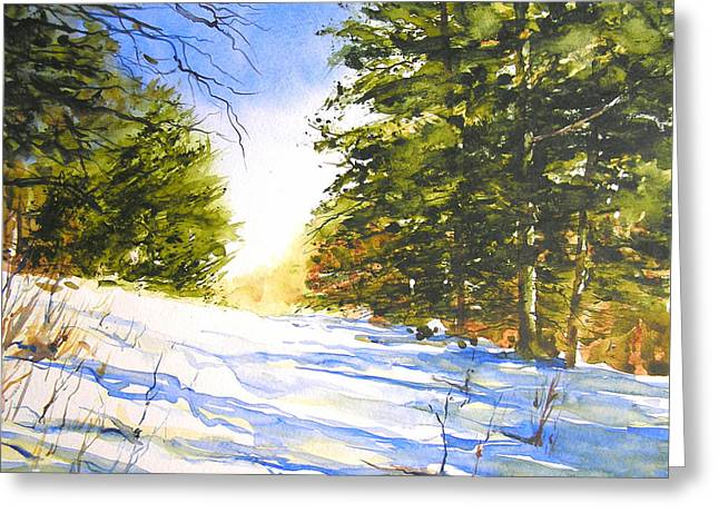 Winter Trail Greeting Card