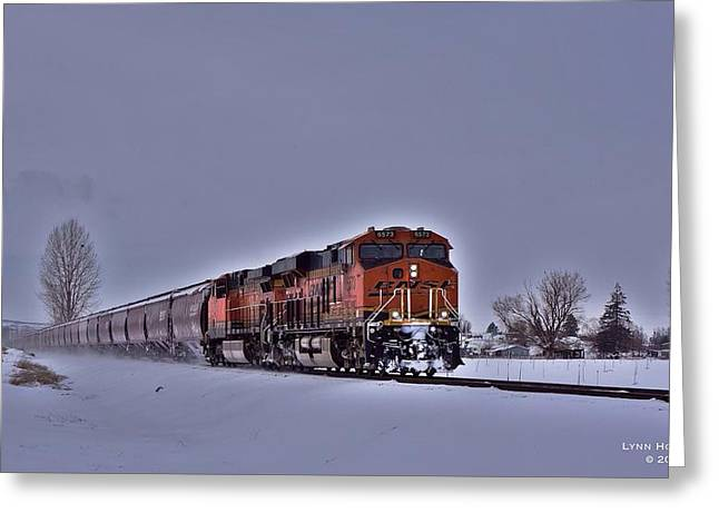 Greeting Card featuring the photograph Winter Train by Lynn Hopwood