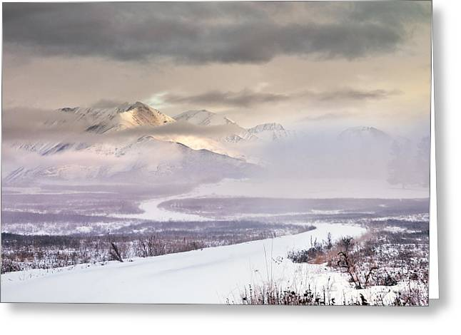 Winter Travel Greeting Card by Leland D Howard